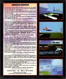 Box back cover for Armour-Geddon on the Atari ST.