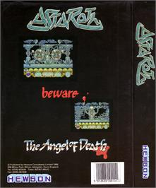 Box back cover for Astaroth: The Angel of Death on the Atari ST.