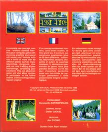 Box back cover for Astate: La Malédiction des Templiers on the Atari ST.
