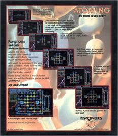 Box back cover for Atomino on the Atari ST.