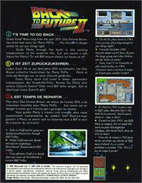 Box back cover for Back to the Future 2 on the Atari ST.