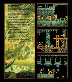 Box back cover for Barbarian on the Atari ST.