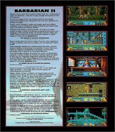 Box back cover for Barbarian 2 on the Atari ST.
