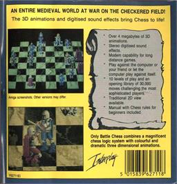 Box back cover for Battle Chess on the Atari ST.