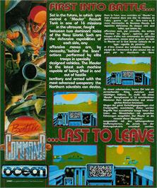 Box back cover for Battle Command on the Atari ST.
