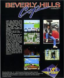 Box back cover for Beverly Hills Cop on the Atari ST.