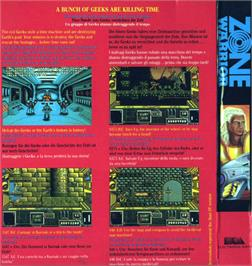 Box back cover for Blade Warrior on the Atari ST.