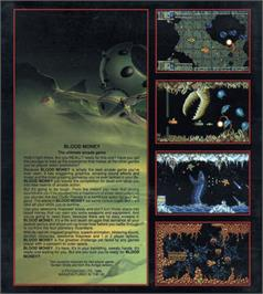 Box back cover for Blood Money on the Atari ST.