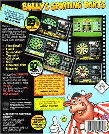 Box back cover for Bully's Sporting Darts on the Atari ST.