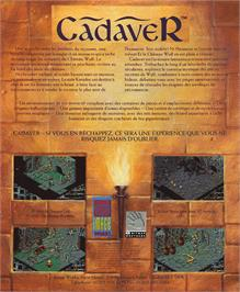 Box back cover for Cadaver on the Atari ST.