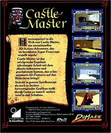 Box back cover for Castle Master on the Atari ST.