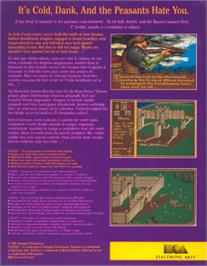 Box back cover for Castles on the Atari ST.