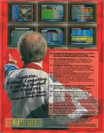 Box back cover for Championship Manager on the Atari ST.