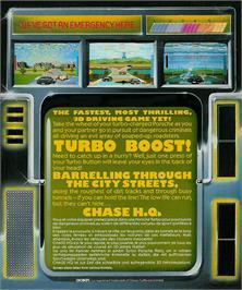Box back cover for Chase H.Q. on the Atari ST.