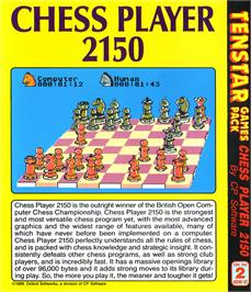Box back cover for Chess Player 2150 on the Atari ST.