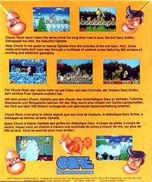 Box back cover for Chuckie Egg on the Atari ST.