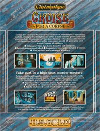 Box back cover for Cruise for a Corpse on the Atari ST.