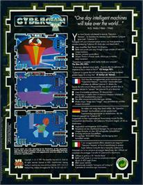 Box back cover for Cybercon 3 on the Atari ST.