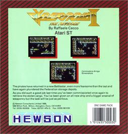 Box back cover for Cybernoid 2: The Revenge on the Atari ST.