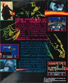 Box back cover for Darkman on the Atari ST.