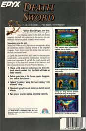 Box back cover for Death Sword on the Atari ST.