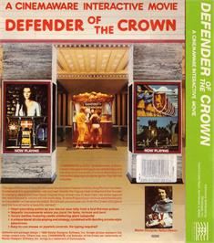 Box back cover for Defender of the Crown on the Atari ST.