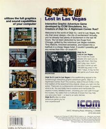 Box back cover for Deja Vu 2: Lost in Las Vegas on the Atari ST.
