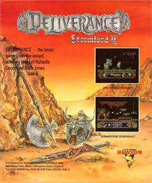 Box back cover for Deliverance: Stormlord 2 on the Atari ST.