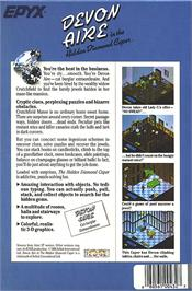 Box back cover for Devon Aire in the Hidden Diamond Caper on the Atari ST.