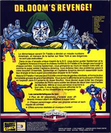Box back cover for Dr. Doom's Revenge on the Atari ST.