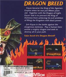 Box back cover for Dragon Breed on the Atari ST.