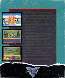 Box back cover for Dragonflight on the Atari ST.