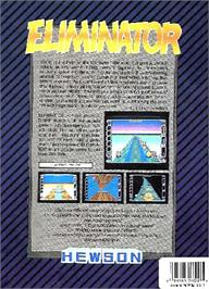 Box back cover for Eliminator on the Atari ST.