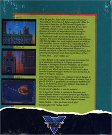 Box back cover for Enchanter Trilogy on the Atari ST.