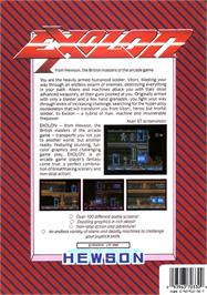 Box back cover for Exolon on the Atari ST.