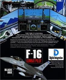 Box back cover for F-16 Combat Pilot on the Atari ST.