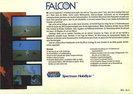 Box back cover for Falcon on the Atari ST.