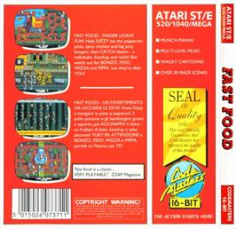 Box back cover for Fast Food on the Atari ST.