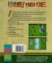 Box back cover for Fernandez Must Die on the Atari ST.