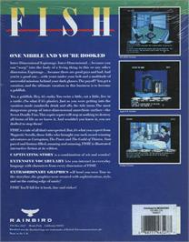 Box back cover for Fish on the Atari ST.