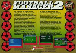 Box back cover for Football Manager 2 on the Atari ST.