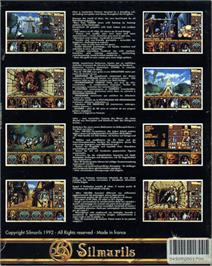 Box back cover for Freedom: Rebels in the Darkness on the Atari ST.