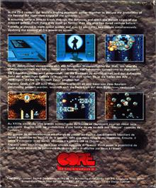 Box back cover for Frenetic on the Atari ST.
