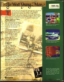 Box back cover for Gold Rush on the Atari ST.