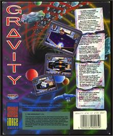 Box back cover for Gravity on the Atari ST.