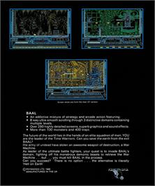 Box back cover for Greystone on the Atari ST.