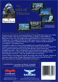 Box back cover for Guild of Thieves on the Atari ST.