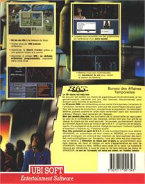 Box back cover for HATE on the Atari ST.