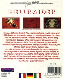 Box back cover for Hellraider on the Atari ST.