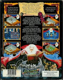 Box back cover for Hero Quest on the Atari ST.